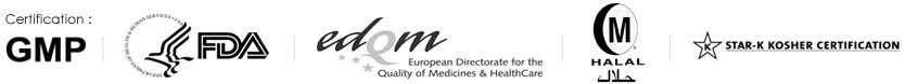 certificate  GMP FDA EDQM CEP HALAL KOSHER